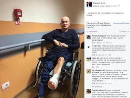 Claudio Bisio incidente in moto per lui e il suo racconto on line