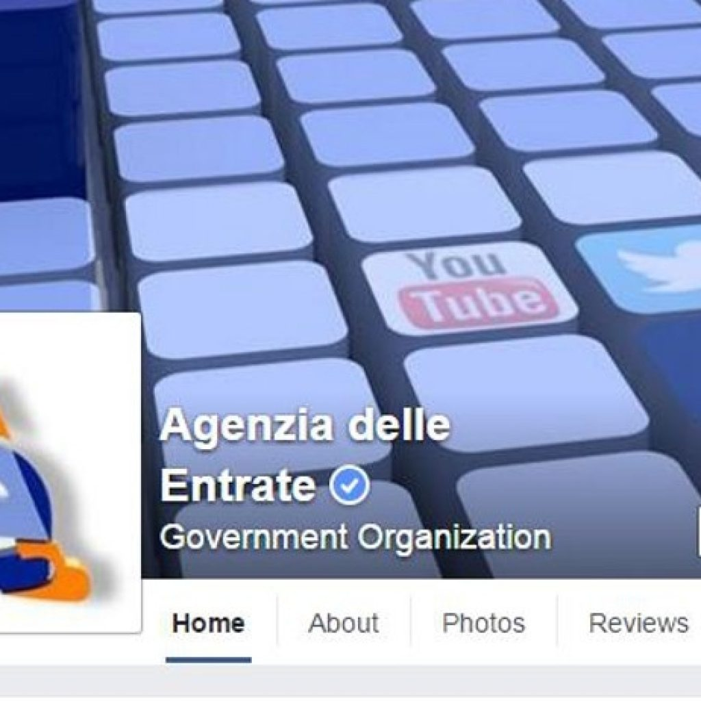 Agenzia delle Entrate arriva anche su Facebook
