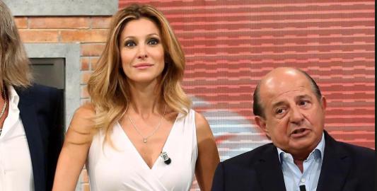 Giancarlo Magalli e Adriana Volpe litigano in televisione