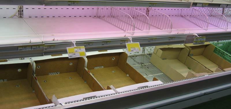A Milano i supermercati sono stati letteralmente svuotati