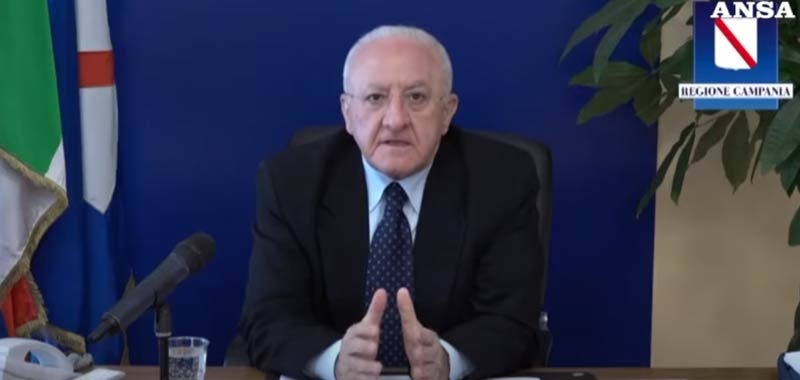 Vincenzo De Luca programma la Fase 2 de epidemia