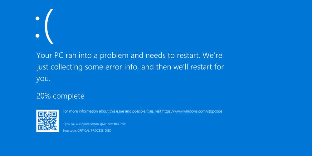 Windows: La schermata blu di morte diventa nera